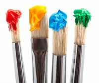 1066546-four-paintbrush-with-color